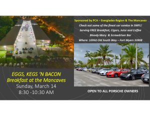 "PORSCHE Eggs, Bacon and Bloodies Breakfast at ""Man Caves"" @ The Man Caves"